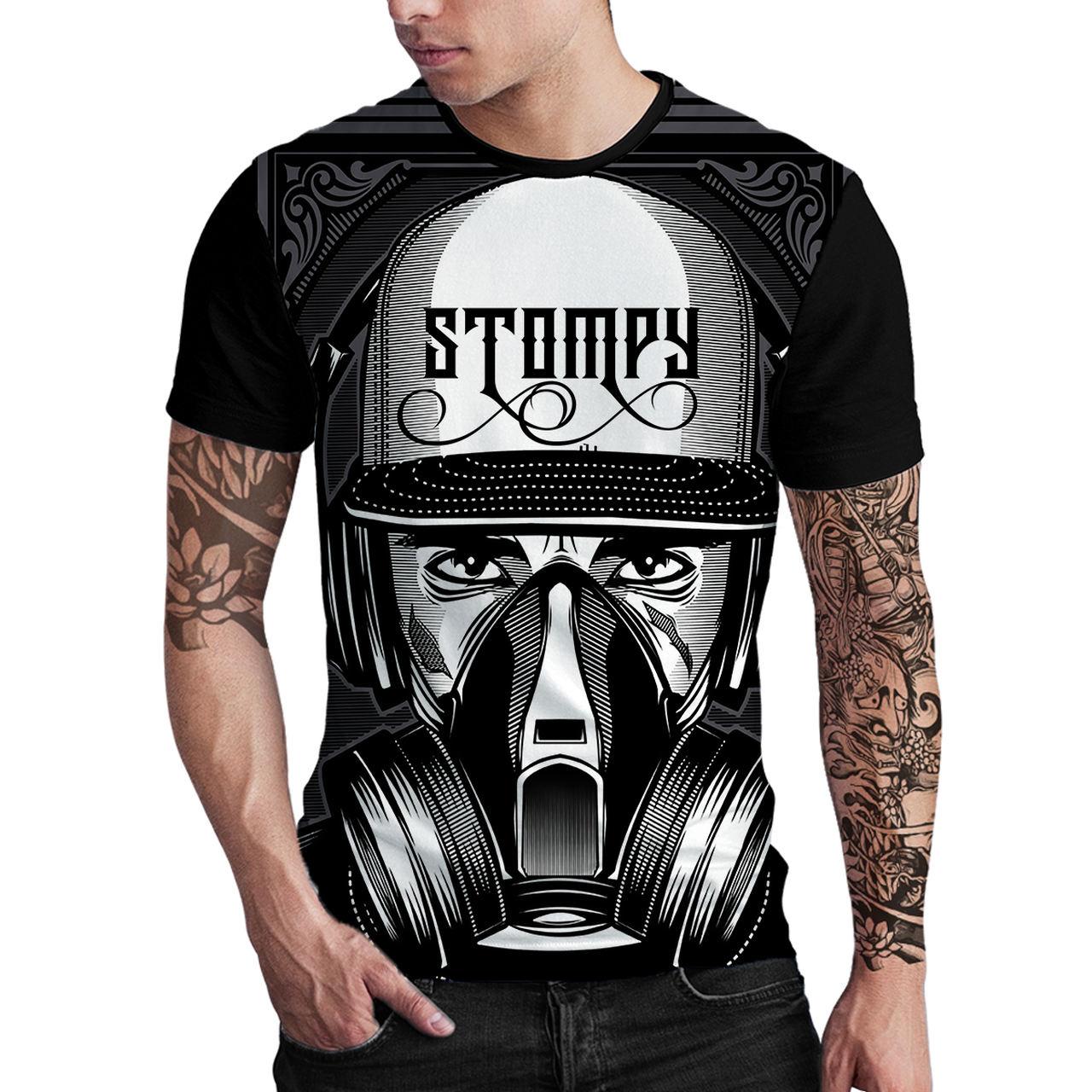 Stompy Camiseta Estampada Masculina Modelo 66