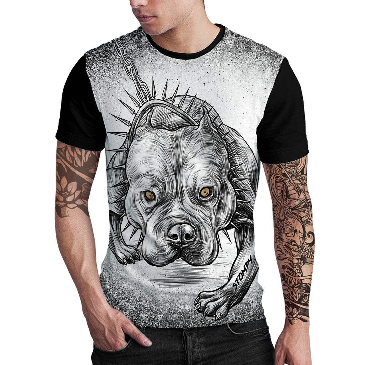 Stompy Camiseta Estampada Masculina Modelo 82