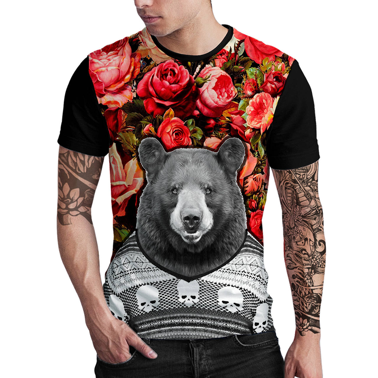 Stompy Camiseta Estampada Masculina Modelo 90
