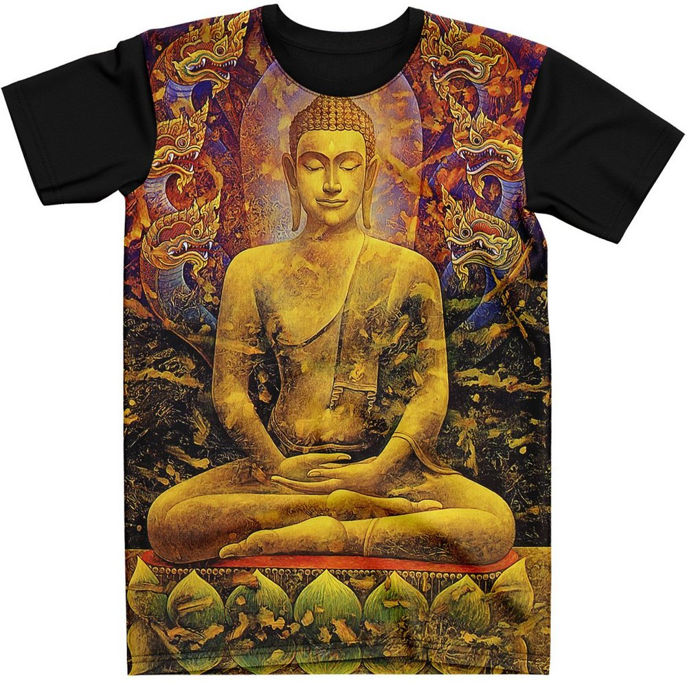 Stompy Camiseta Manga Curta Psicodelica Modelo 09
