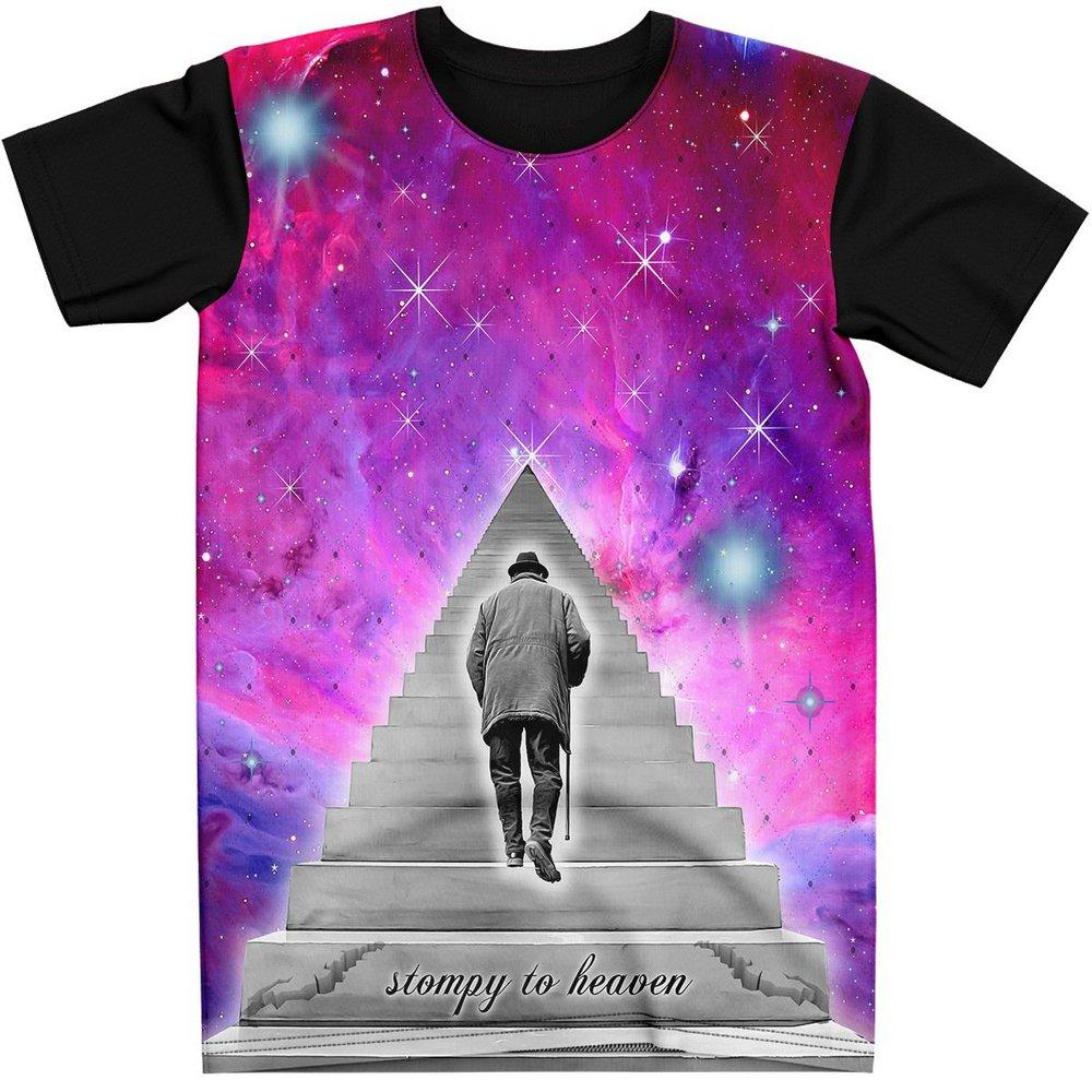 Stompy Camiseta Manga Curta Psicodelica Modelo 11