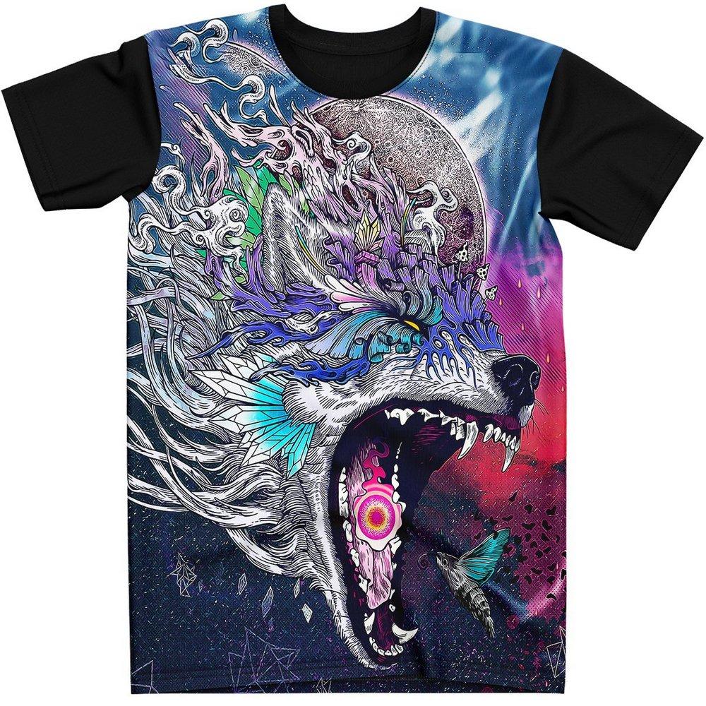 Stompy Camiseta Manga Curta Psicodelica Modelo 17