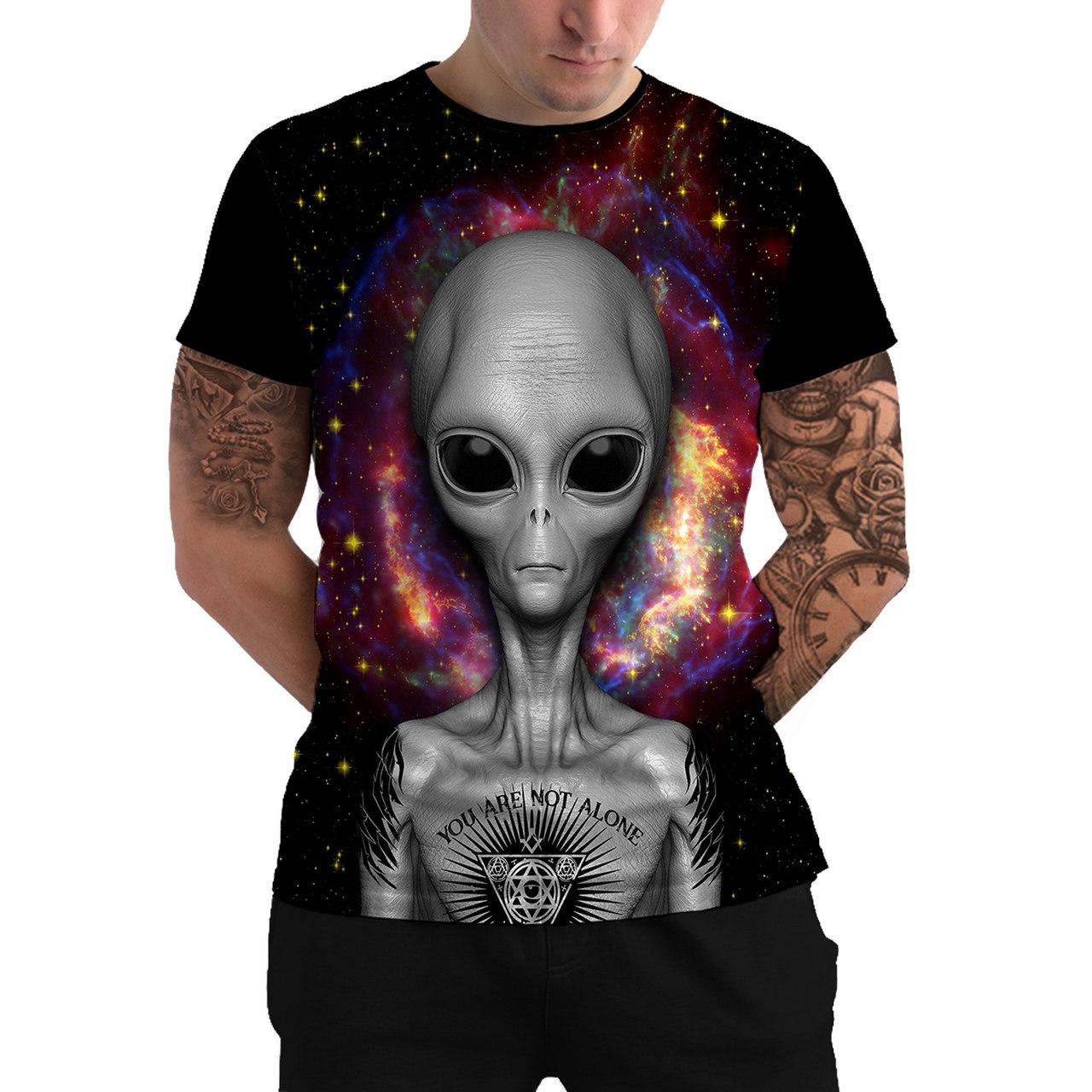 Stompy Camiseta Manga Curta Psicodelica Modelo 21