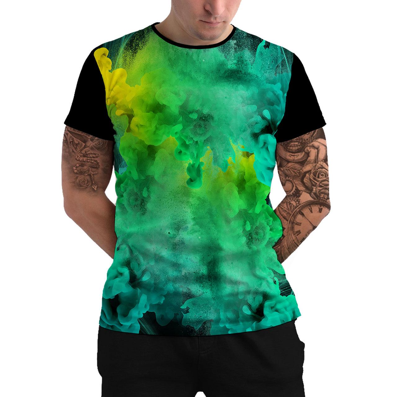 Stompy Camiseta Manga Curta Psicodelica Modelo 26