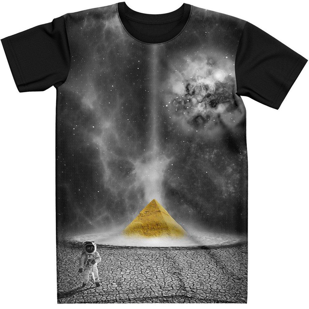 Stompy Camiseta Manga Curta Psicodelica Modelo 28