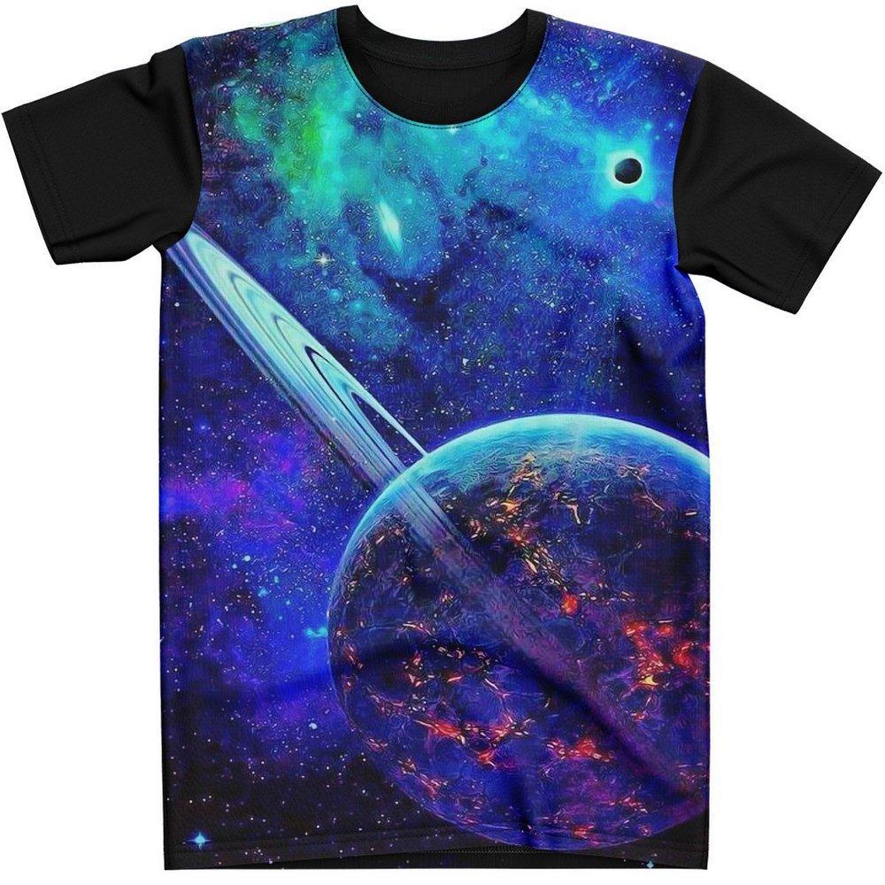 Stompy Camiseta Manga Curta Psicodelica Modelo 29