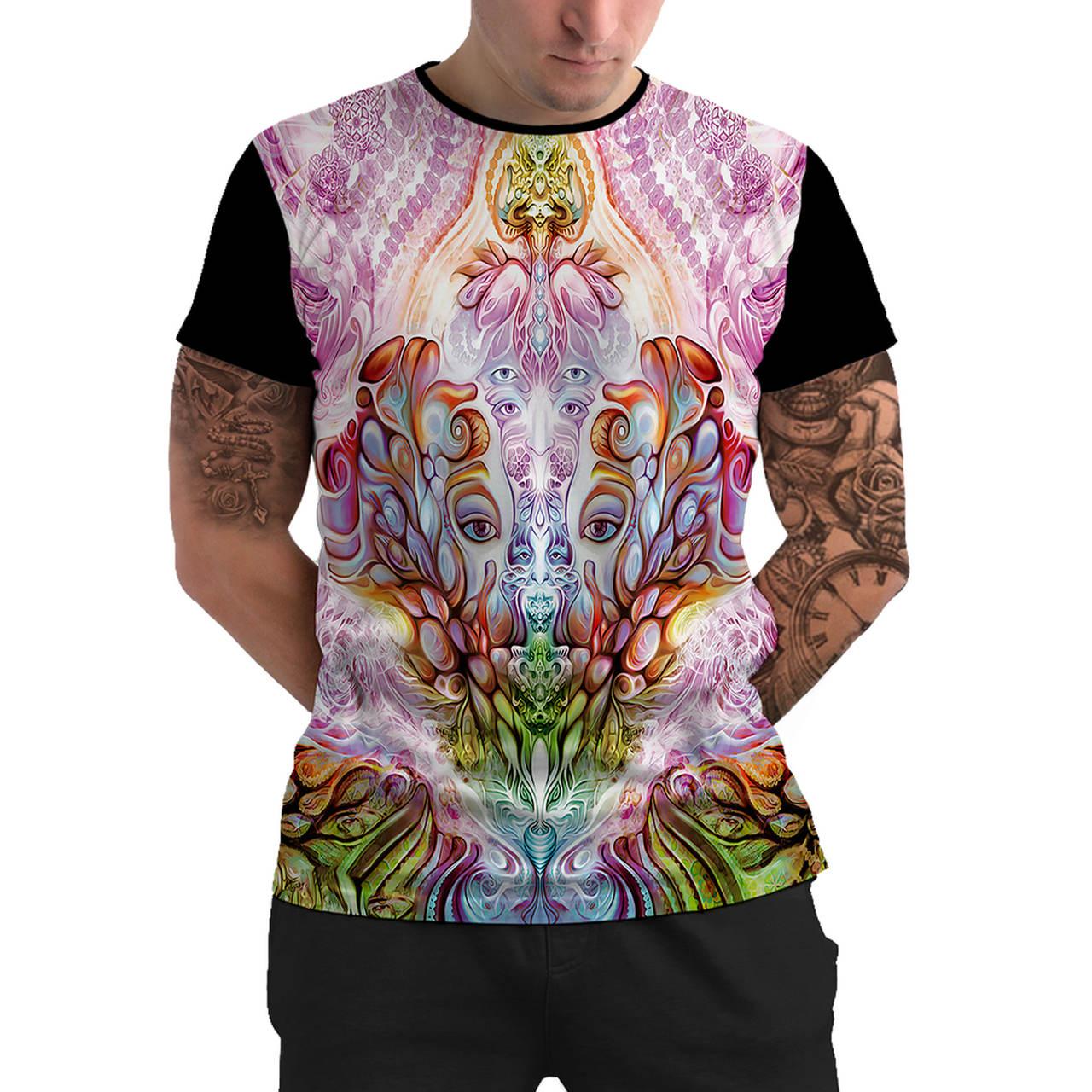 Stompy Camiseta Manga Curta Psicodelica Modelo 31