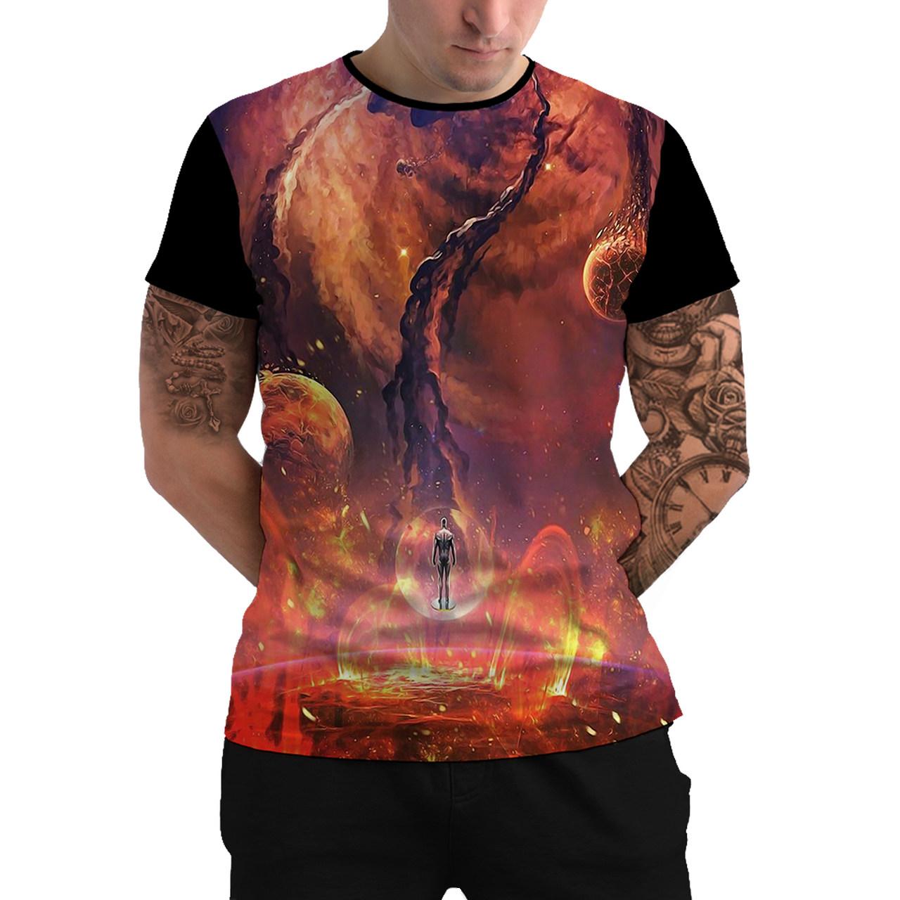 Stompy Camiseta Manga Curta Psicodelica Modelo 32