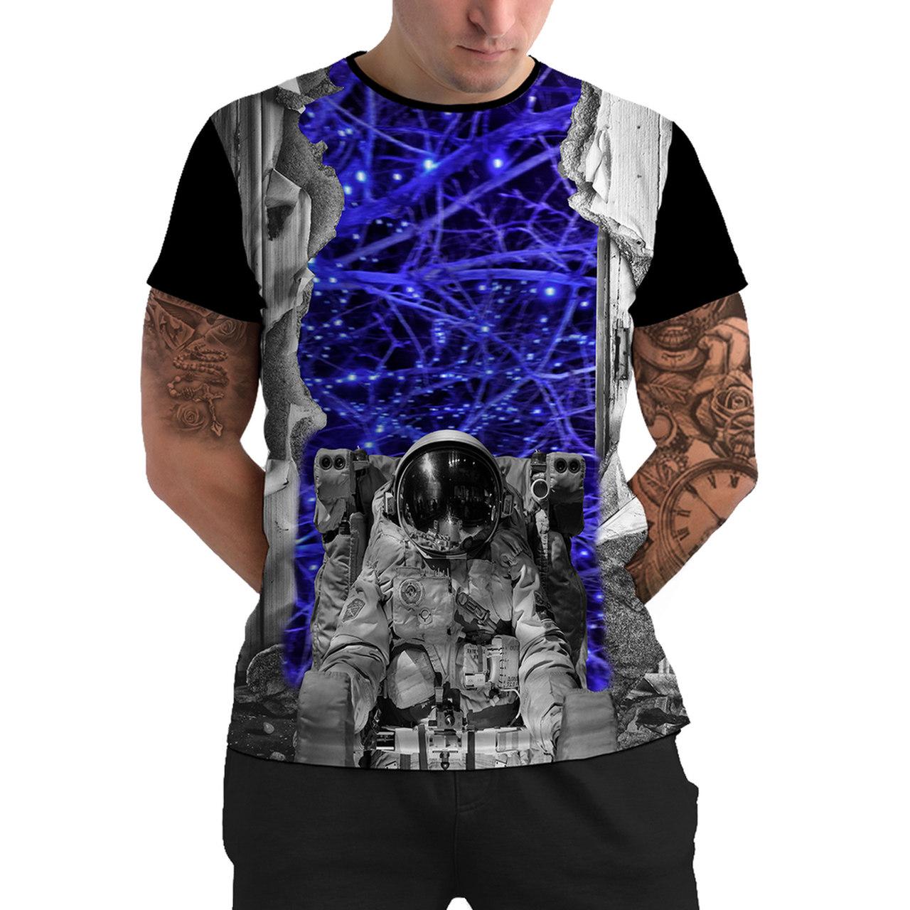 Stompy Camiseta Manga Curta Psicodelica Modelo 36