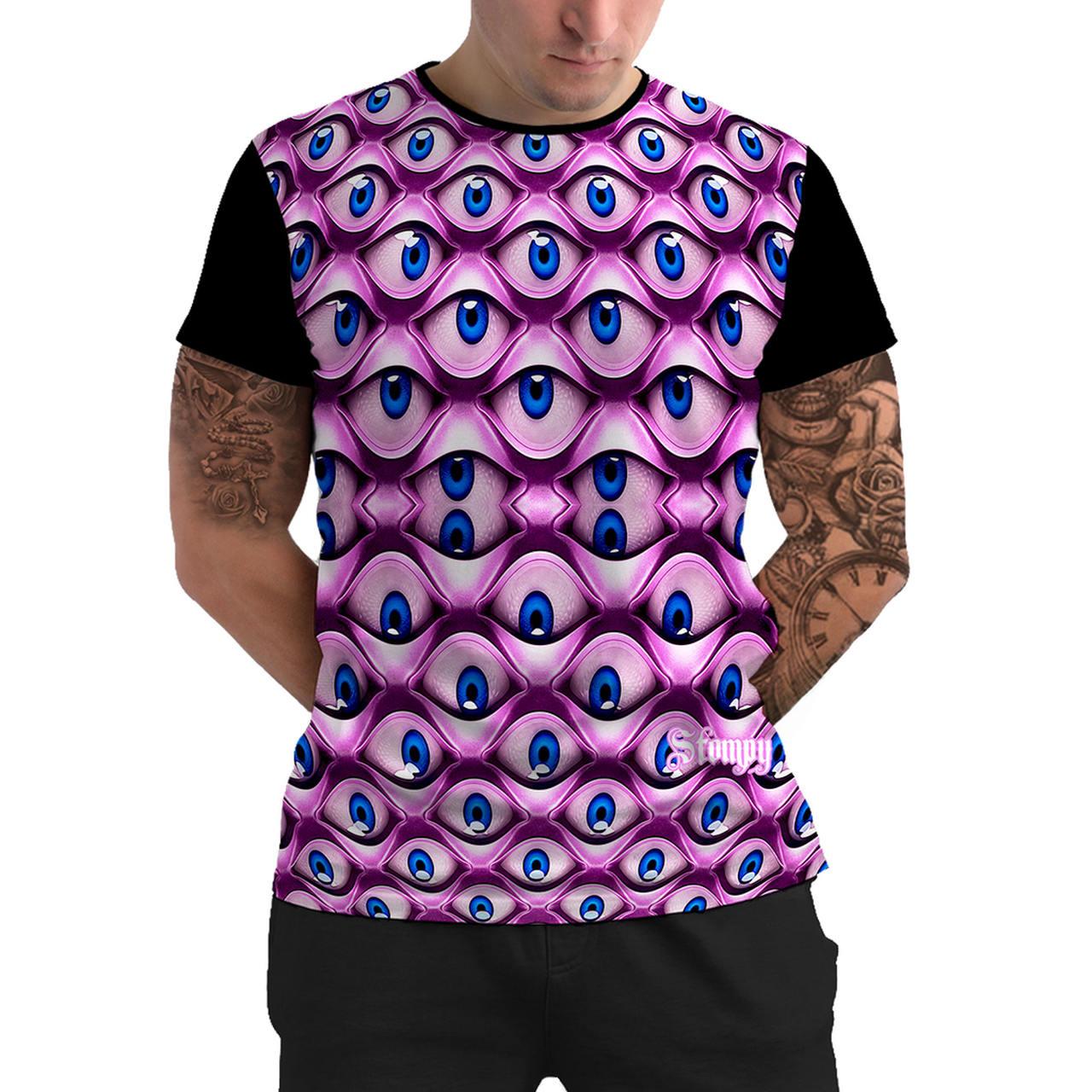 Stompy Camiseta Manga Curta Psicodelica Modelo 57