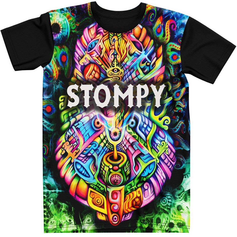 Stompy Camiseta Manga Curta Psicodelica Modelo 59