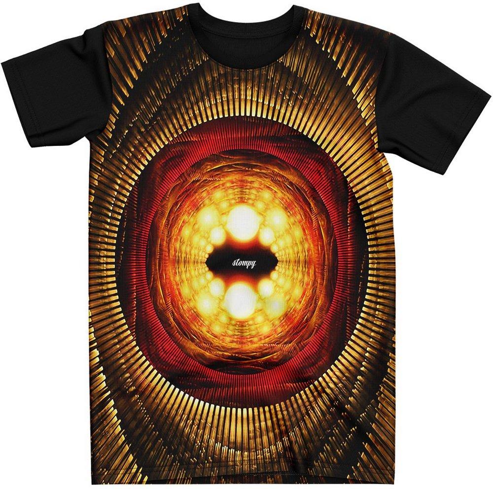 Stompy Camiseta Manga Curta Psicodelica Modelo 61