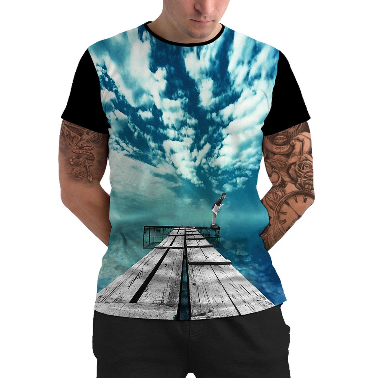 Stompy Camiseta Manga Curta Psicodelica Modelo 63
