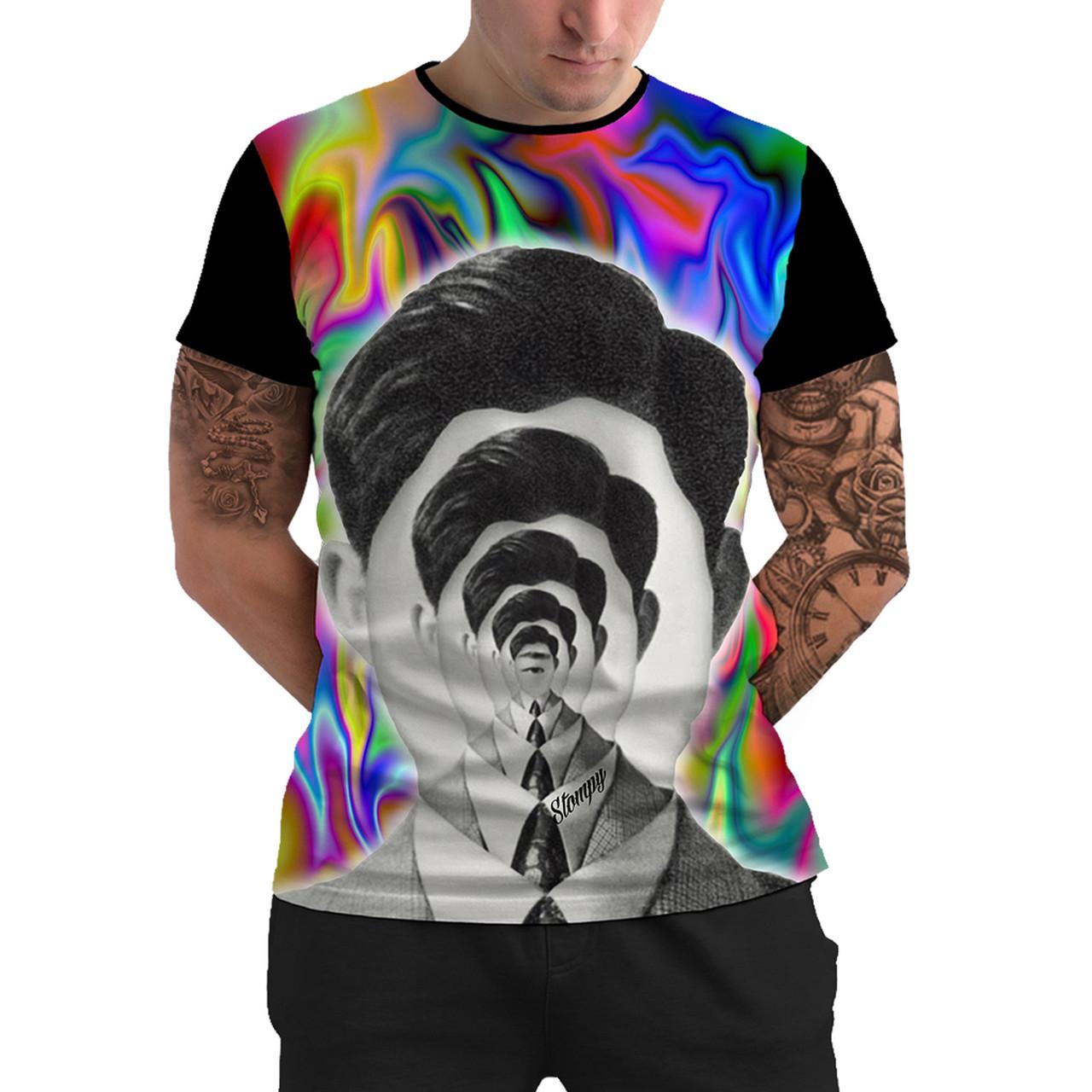 Stompy Camiseta Manga Curta Psicodelica Modelo 66