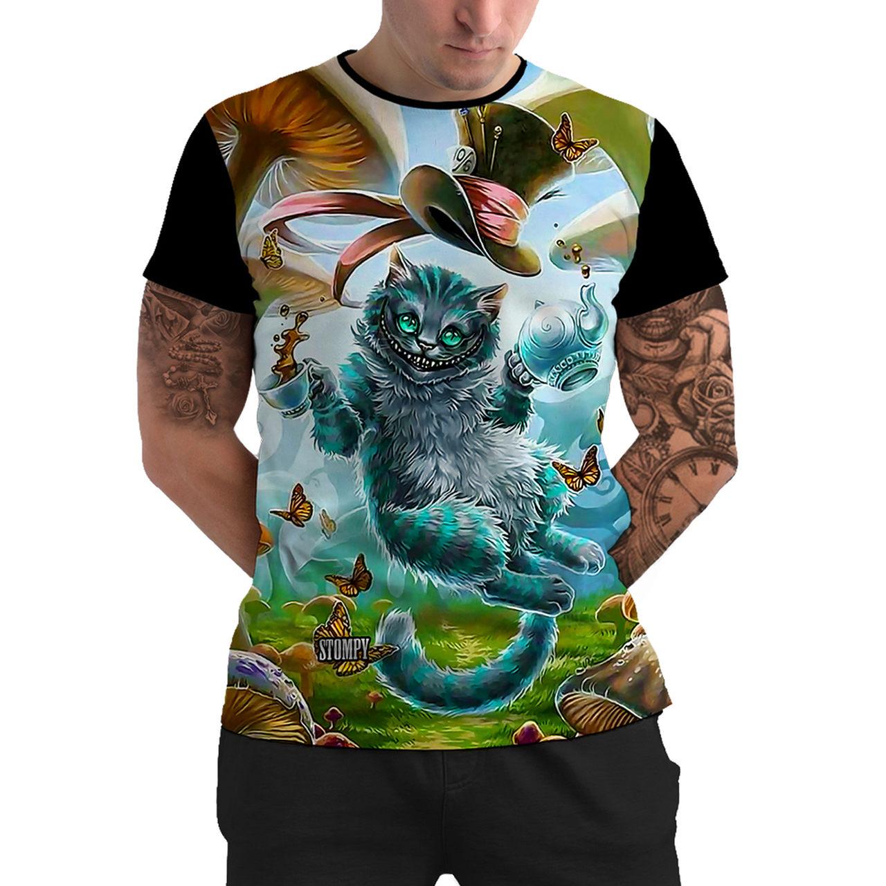 Stompy Camiseta Manga Curta Psicodelica Modelo 76