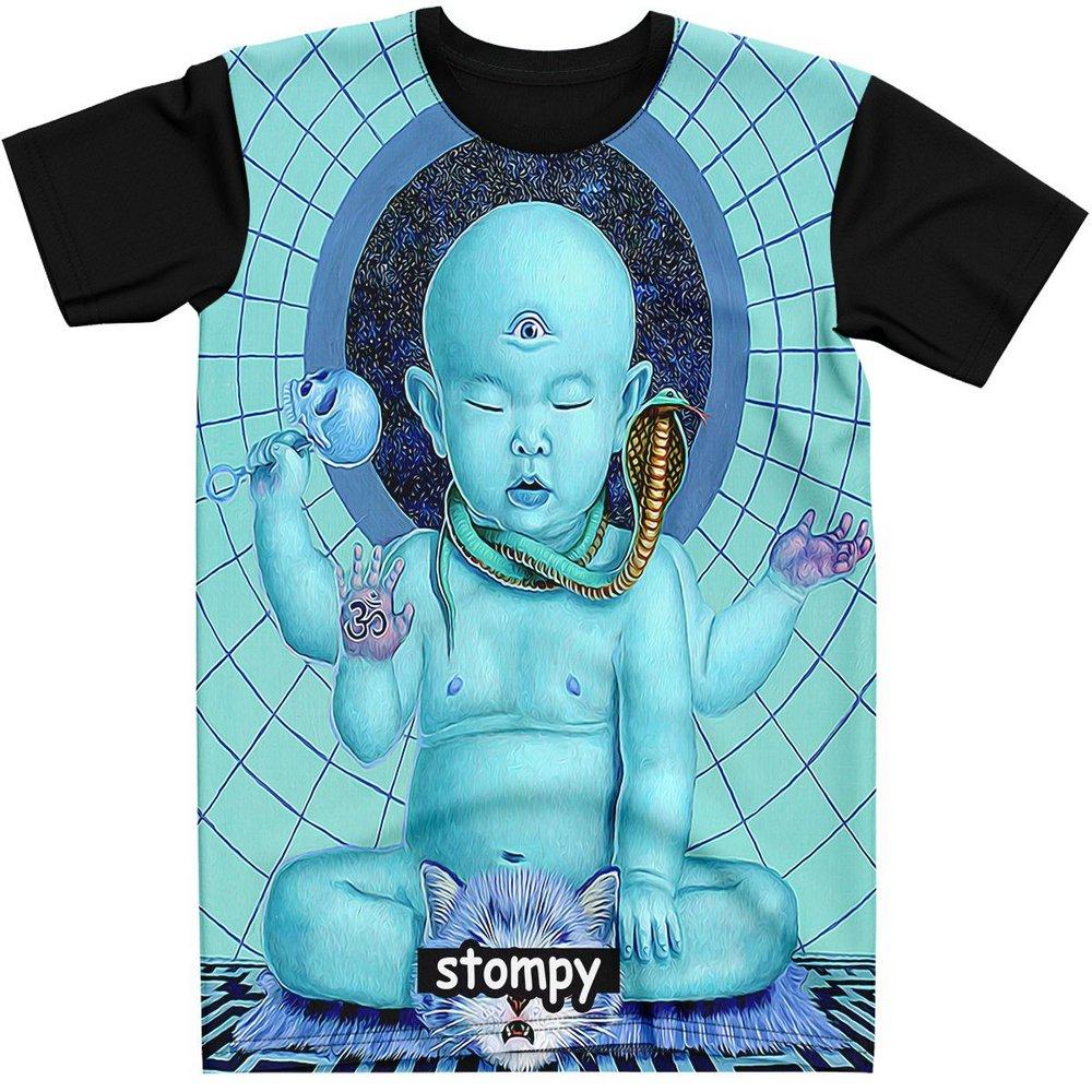Stompy Camiseta Manga Curta Psicodelica Modelo 81