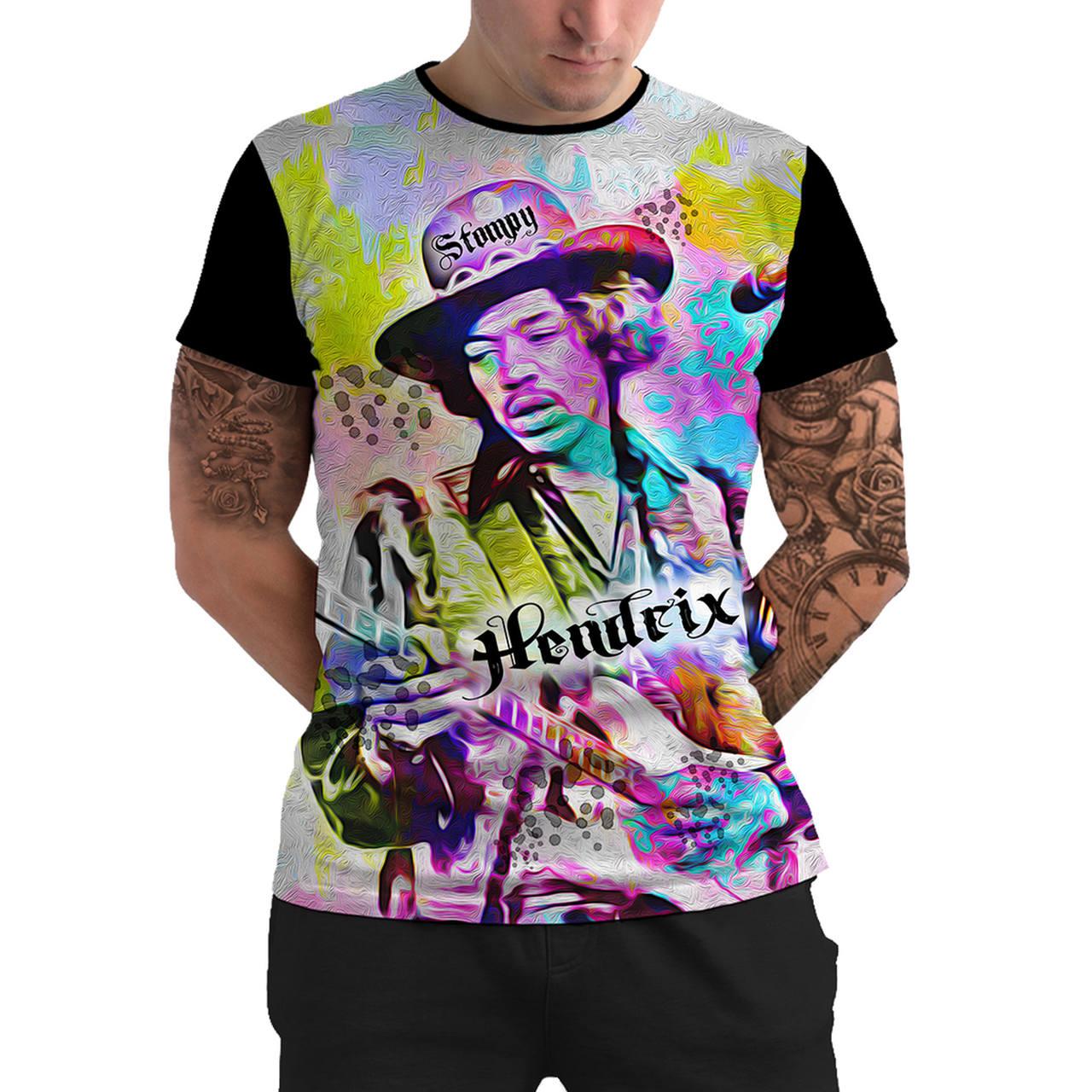 Stompy Camiseta Manga Curta Psicodelica Modelo 86