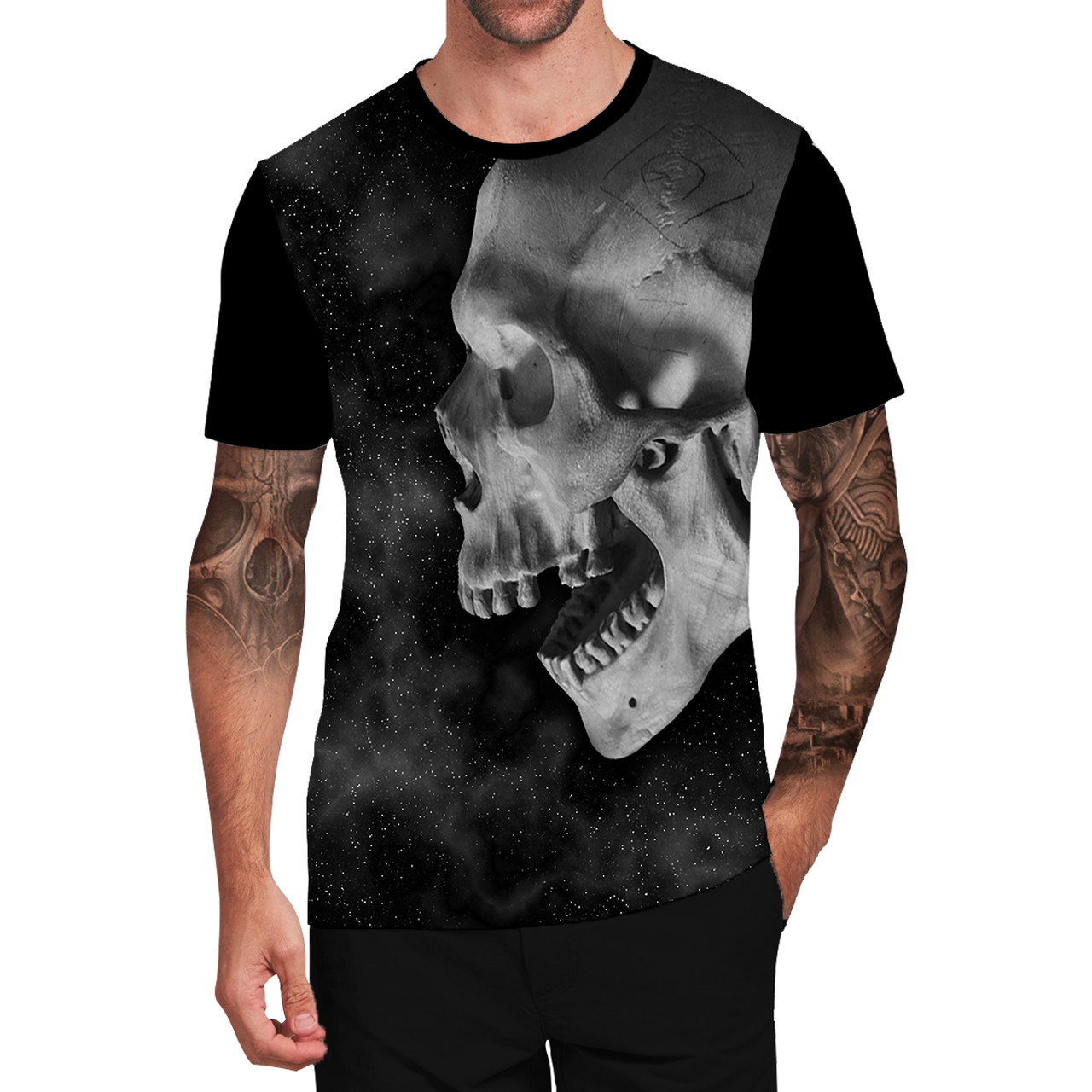 Stompy Camiseta Tattoo Tatuagem Caveira Skull 05
