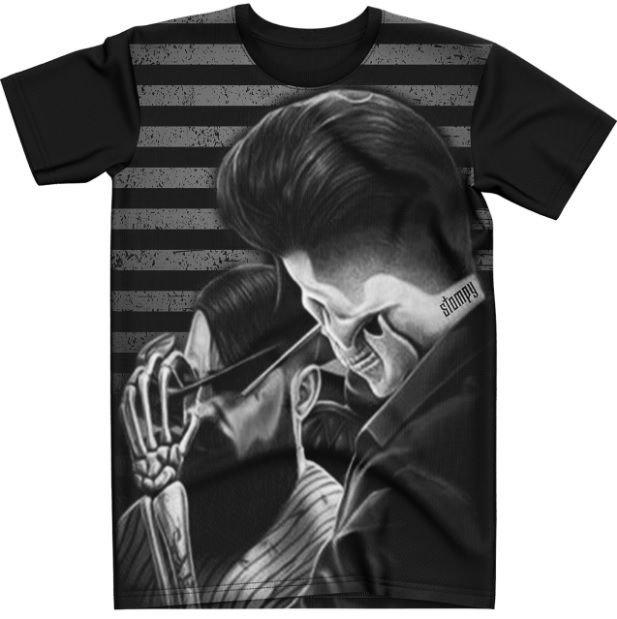 Stompy Camiseta Tattoo Tatuagem Caveira Skull 104