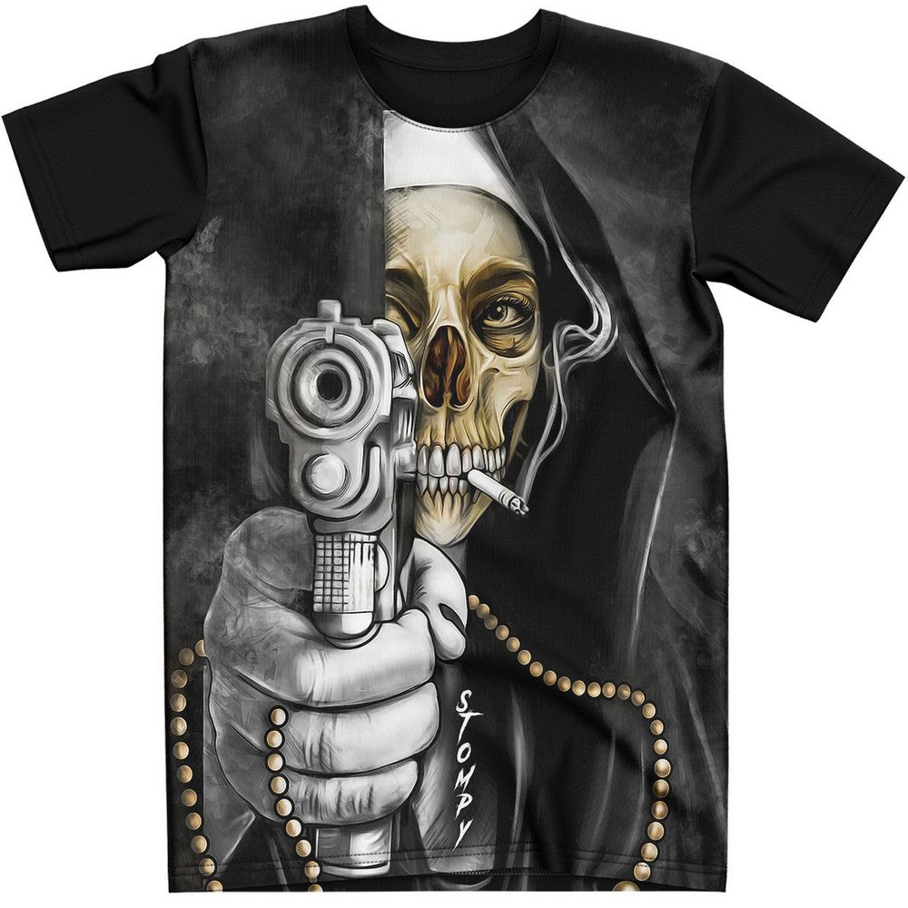 Stompy Camiseta Tattoo Tatuagem Caveira Skull 105