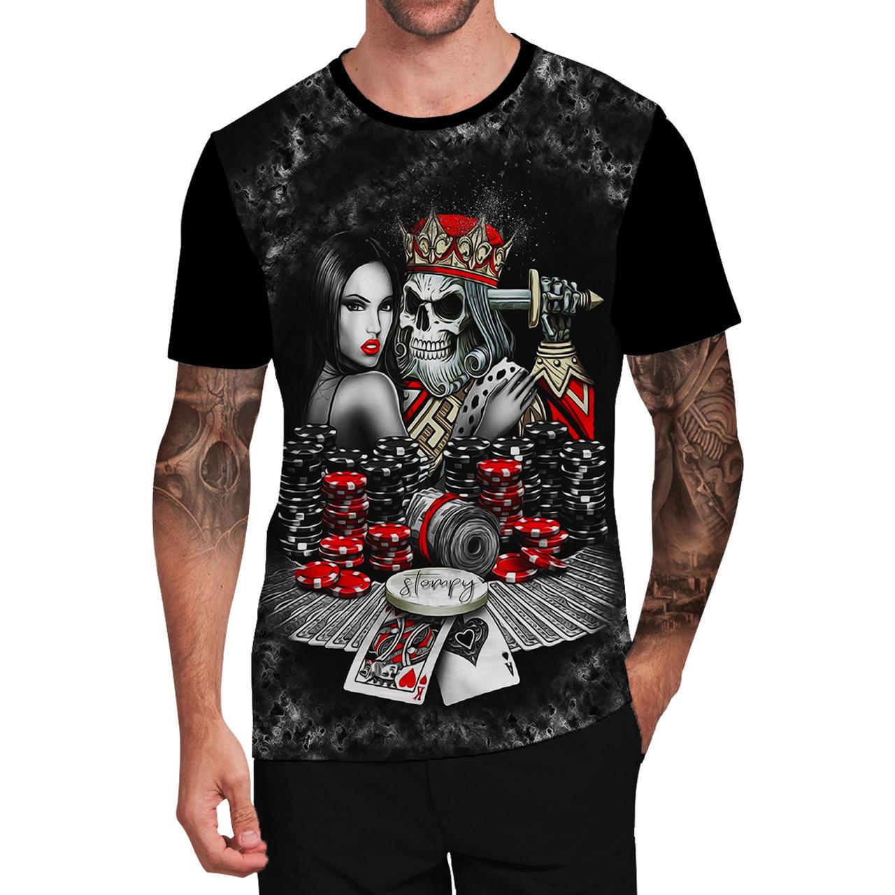 Stompy Camiseta Tattoo Tatuagem Caveira Skull 108