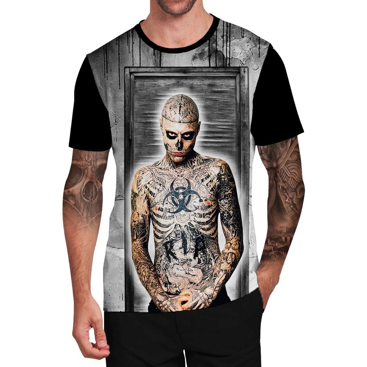Stompy Camiseta Tattoo Tatuagem Caveira Skull 109