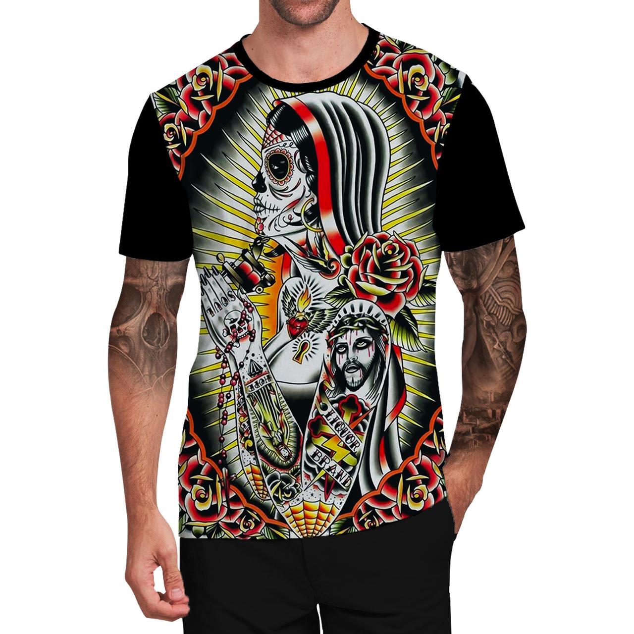 Stompy Camiseta Tattoo Tatuagem Caveira Skull 110