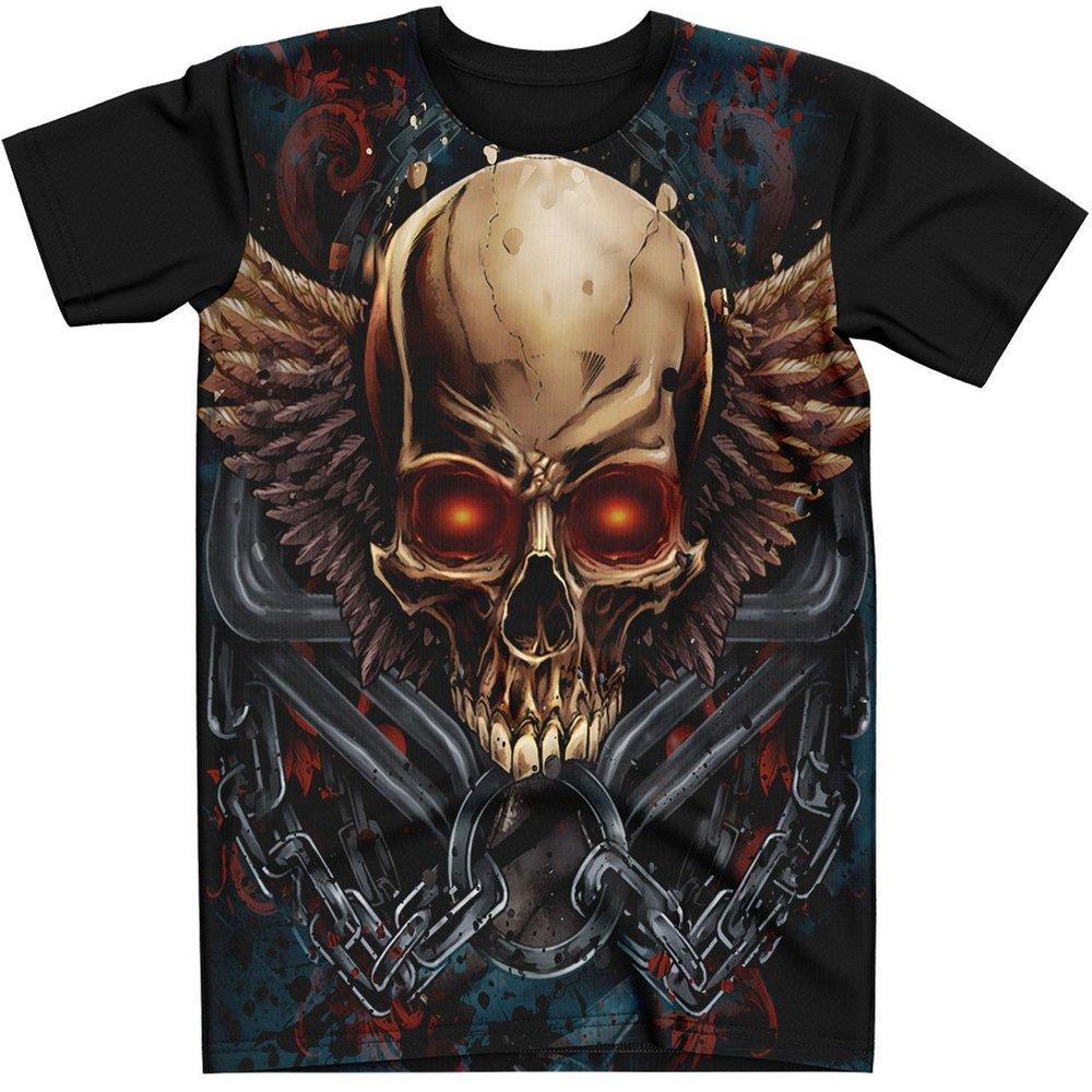 Stompy Camiseta Tattoo Tatuagem Caveira Skull 112