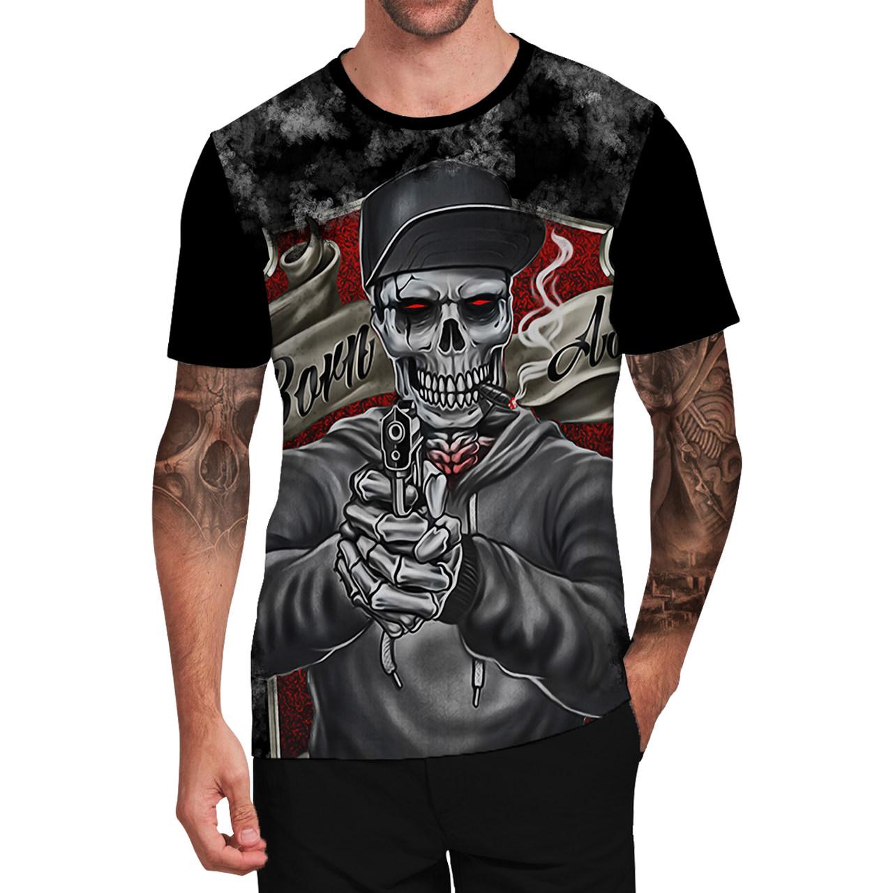 Stompy Camiseta Tattoo Tatuagem Caveira Skull 122