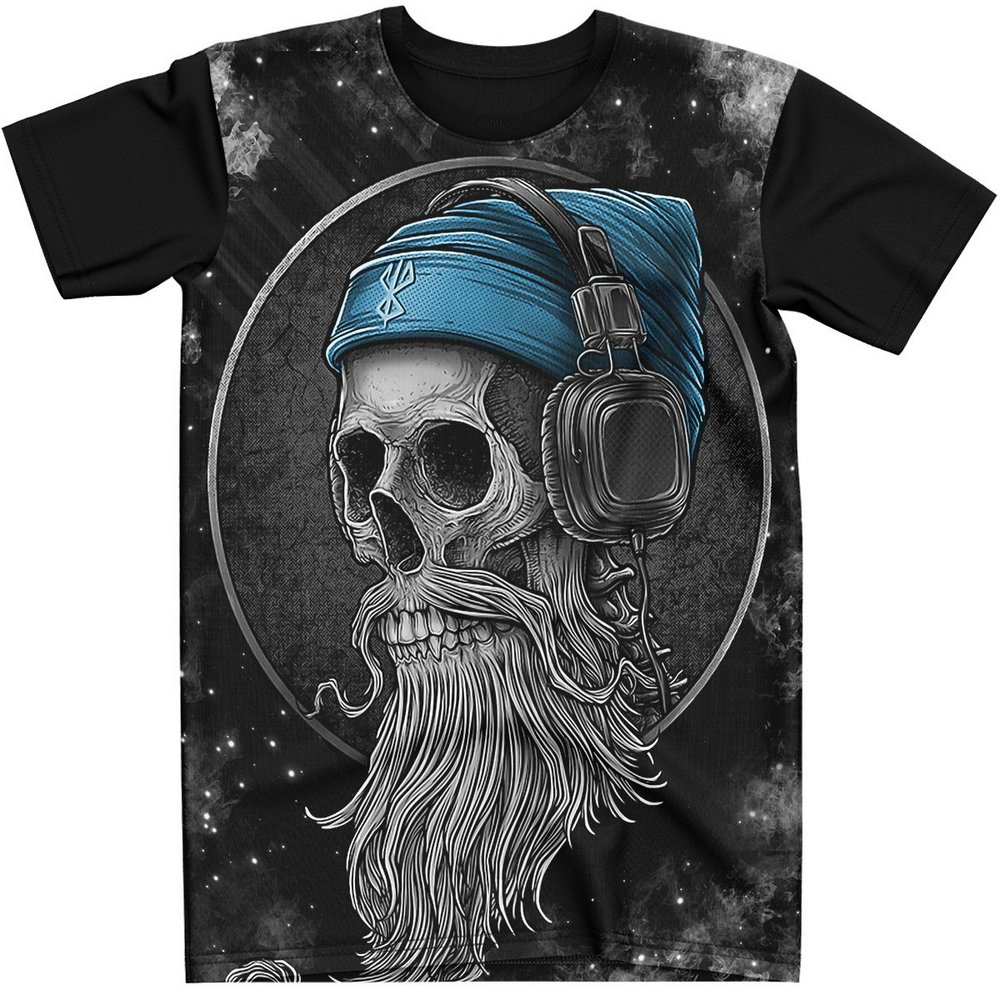 Stompy Camiseta Tattoo Tatuagem Caveira Skull 135