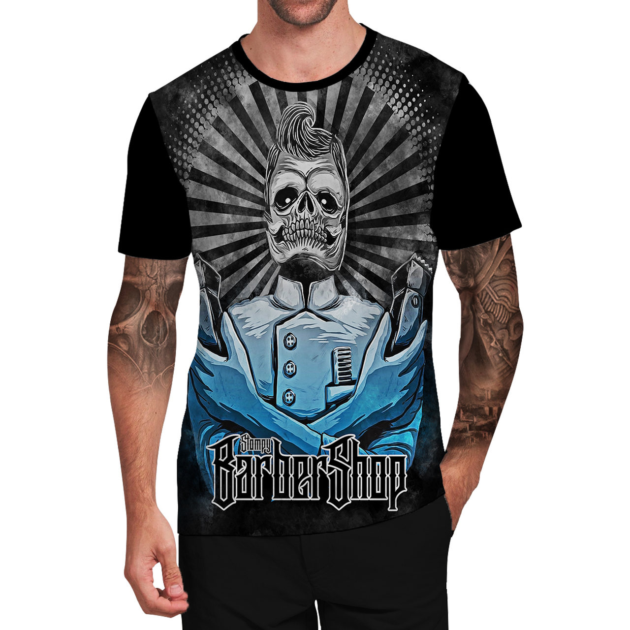 Stompy Camiseta Tattoo Tatuagem Caveira Skull 140