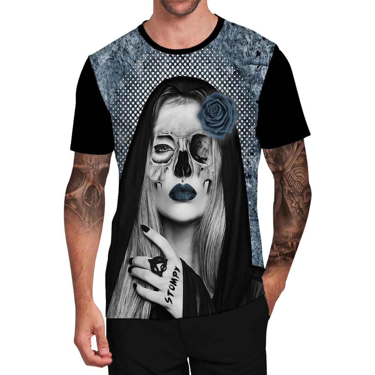 Stompy Camiseta Tattoo Tatuagem Caveira Skull 143