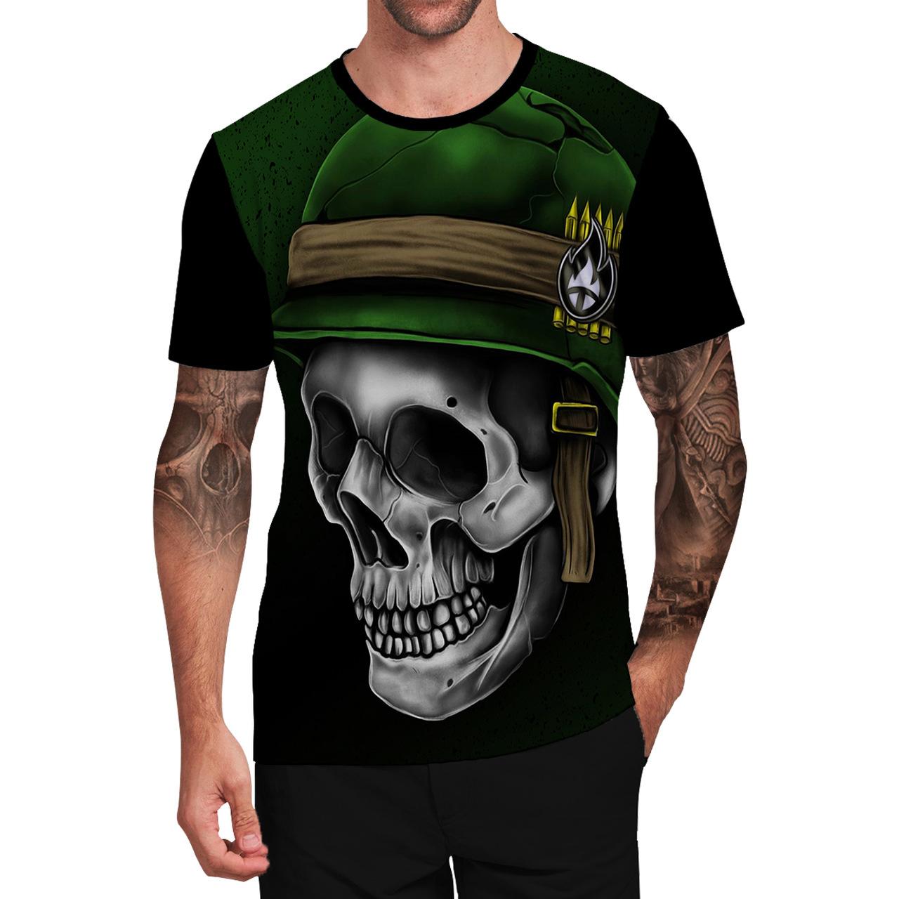 Stompy Camiseta Tattoo Tatuagem Caveira Skull 145