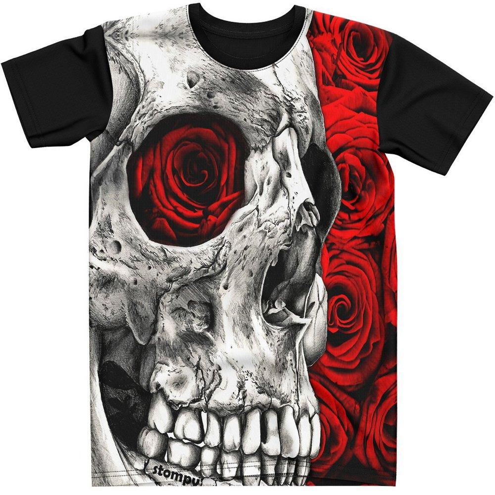 Stompy Camiseta Tattoo Tatuagem Caveira Skull 152