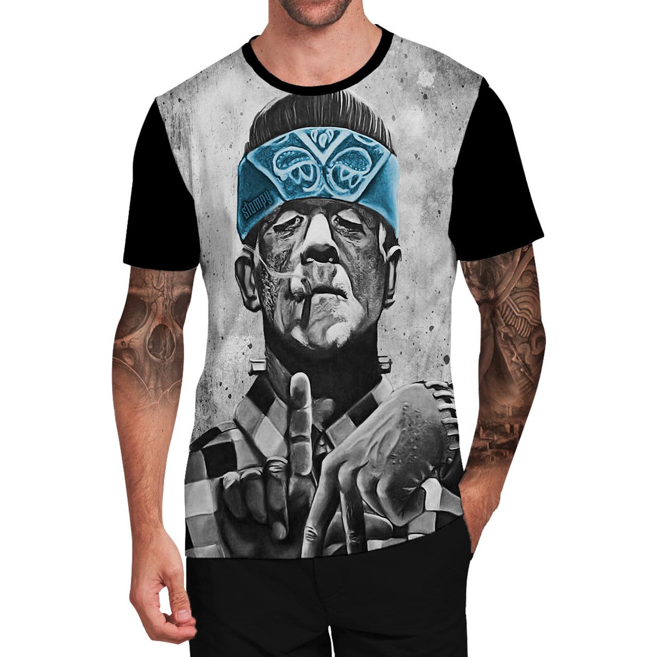 Stompy Camiseta Tattoo Tatuagem Caveira Skull 156