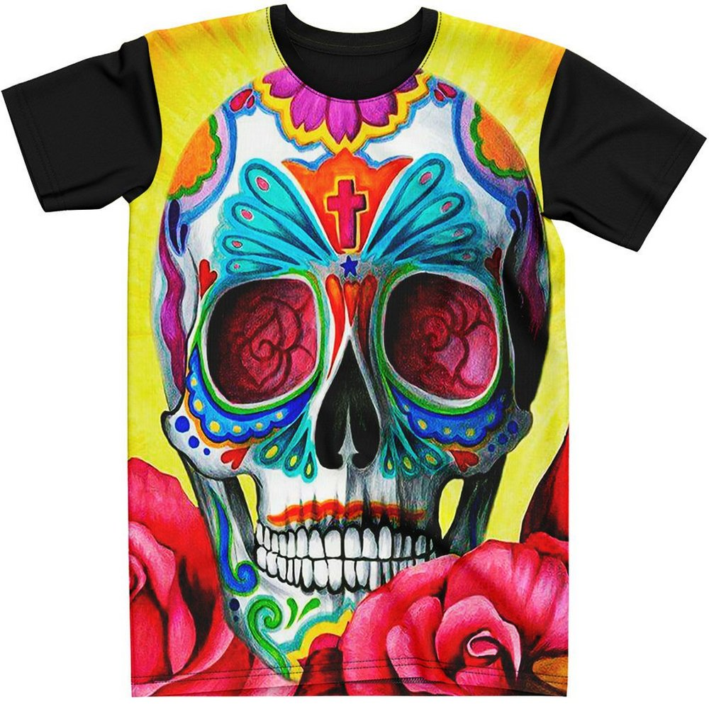 Stompy Camiseta Tattoo Tatuagem Caveira Skull 17
