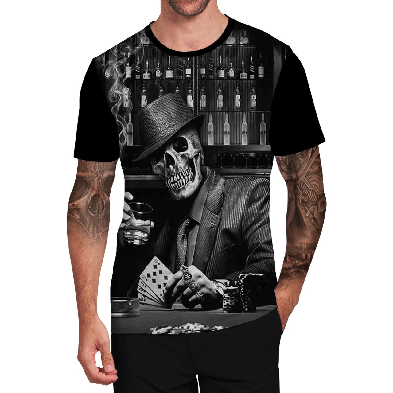 Stompy Camiseta Tattoo Tatuagem Caveira Skull 19