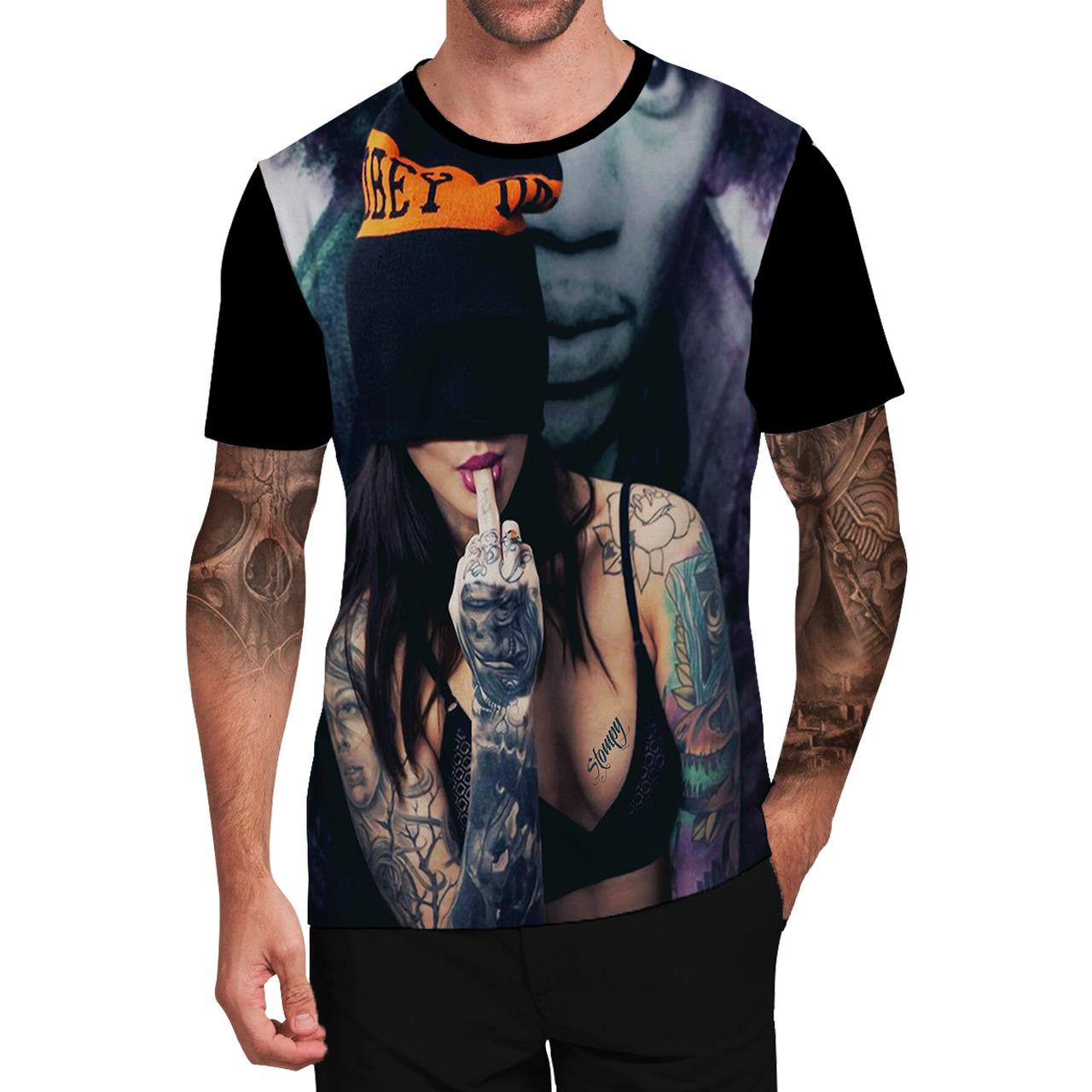 Stompy Camiseta Tattoo Tatuagem Caveira Skull 25