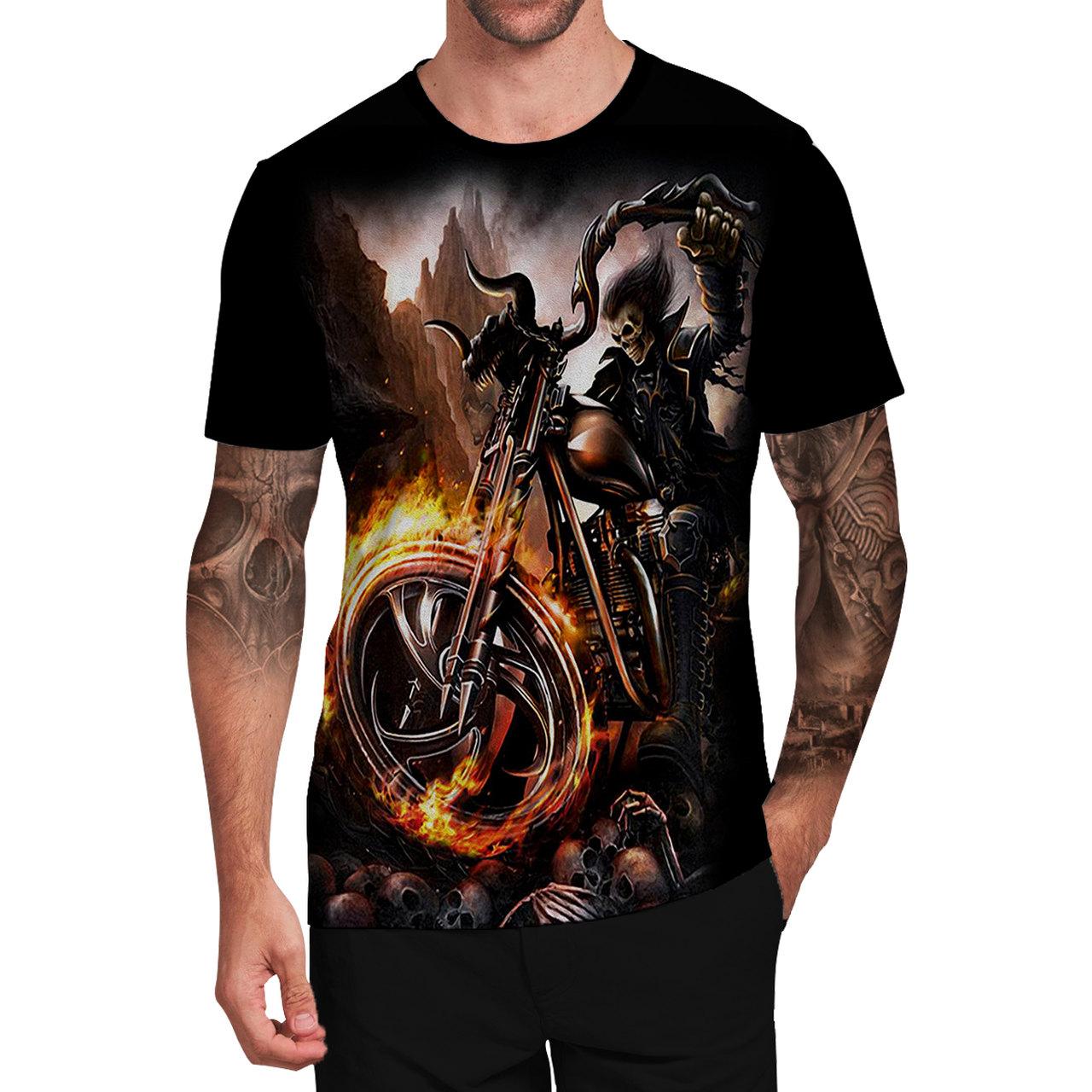 Stompy Camiseta Tattoo Tatuagem Caveira Skull 37