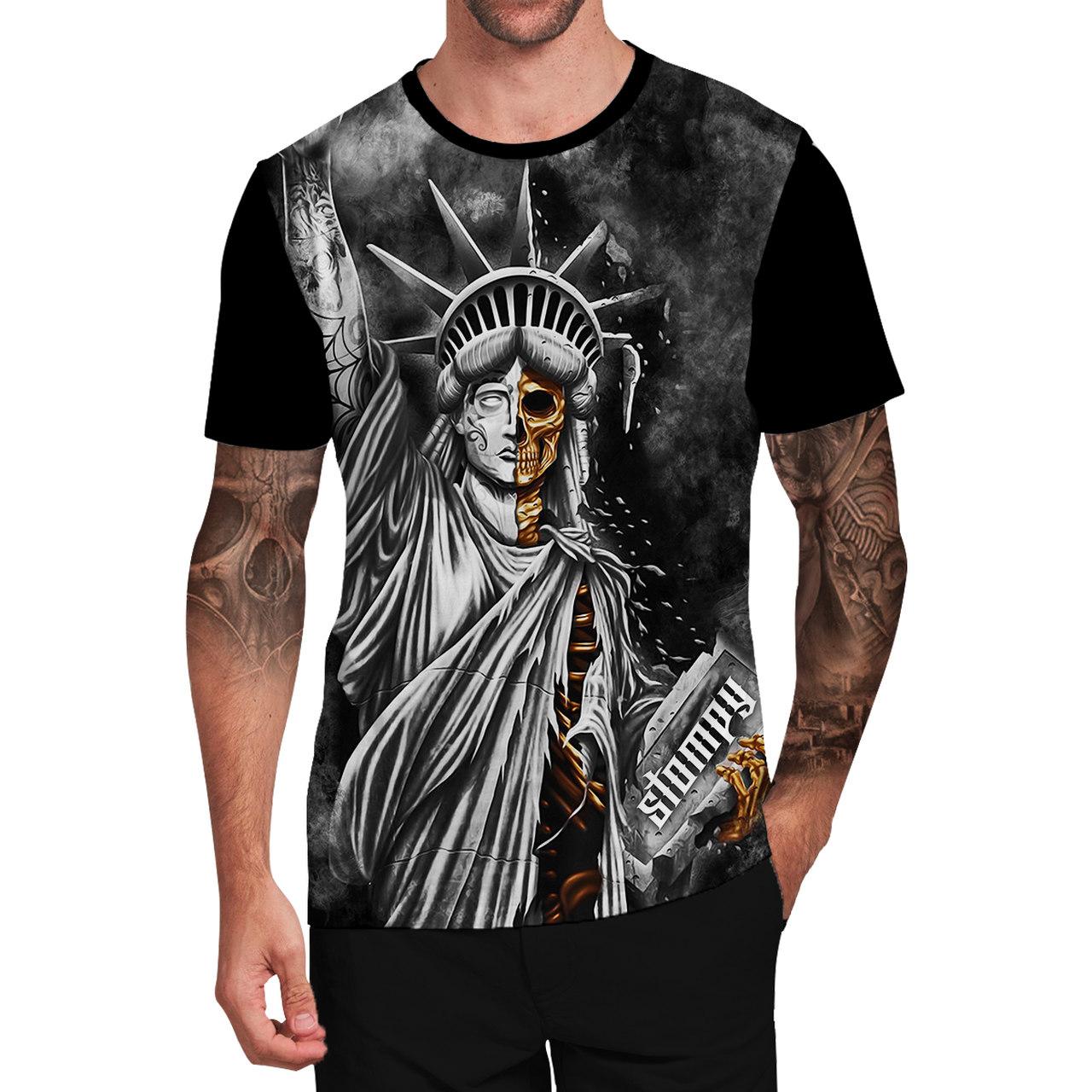 Stompy Camiseta Tattoo Tatuagem Caveira Skull 50