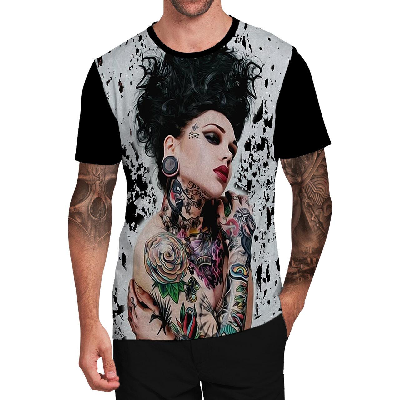 Stompy Camiseta Tattoo Tatuagem Caveira Skull 64