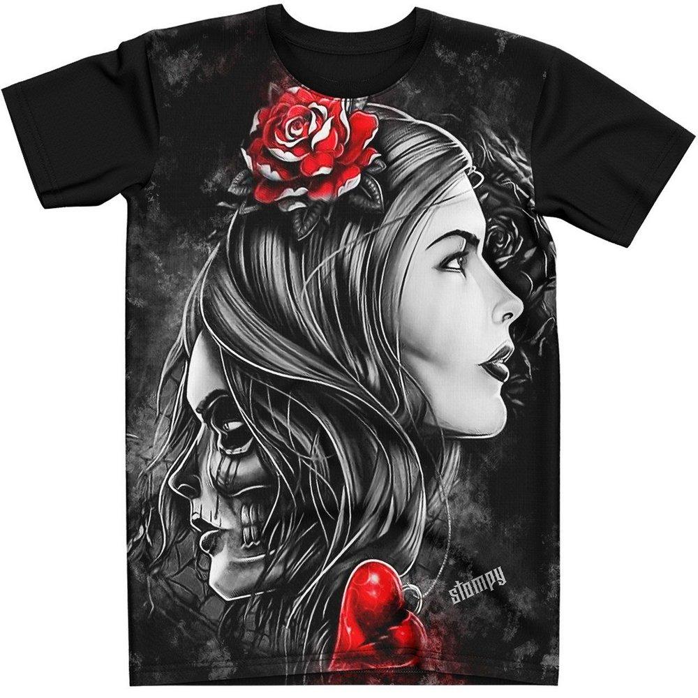 Stompy Camiseta Tattoo Tatuagem Caveira Skull 67