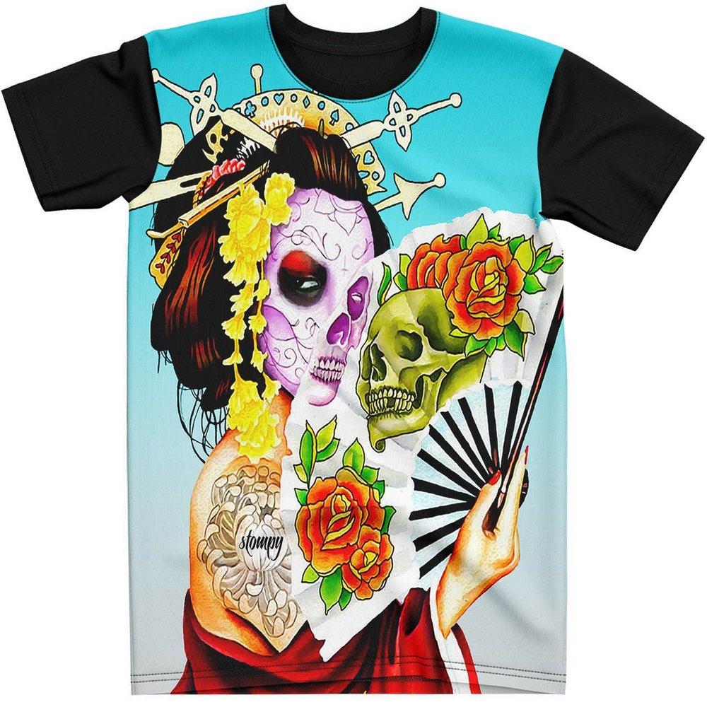 Stompy Camiseta Tattoo Tatuagem Caveira Skull 69