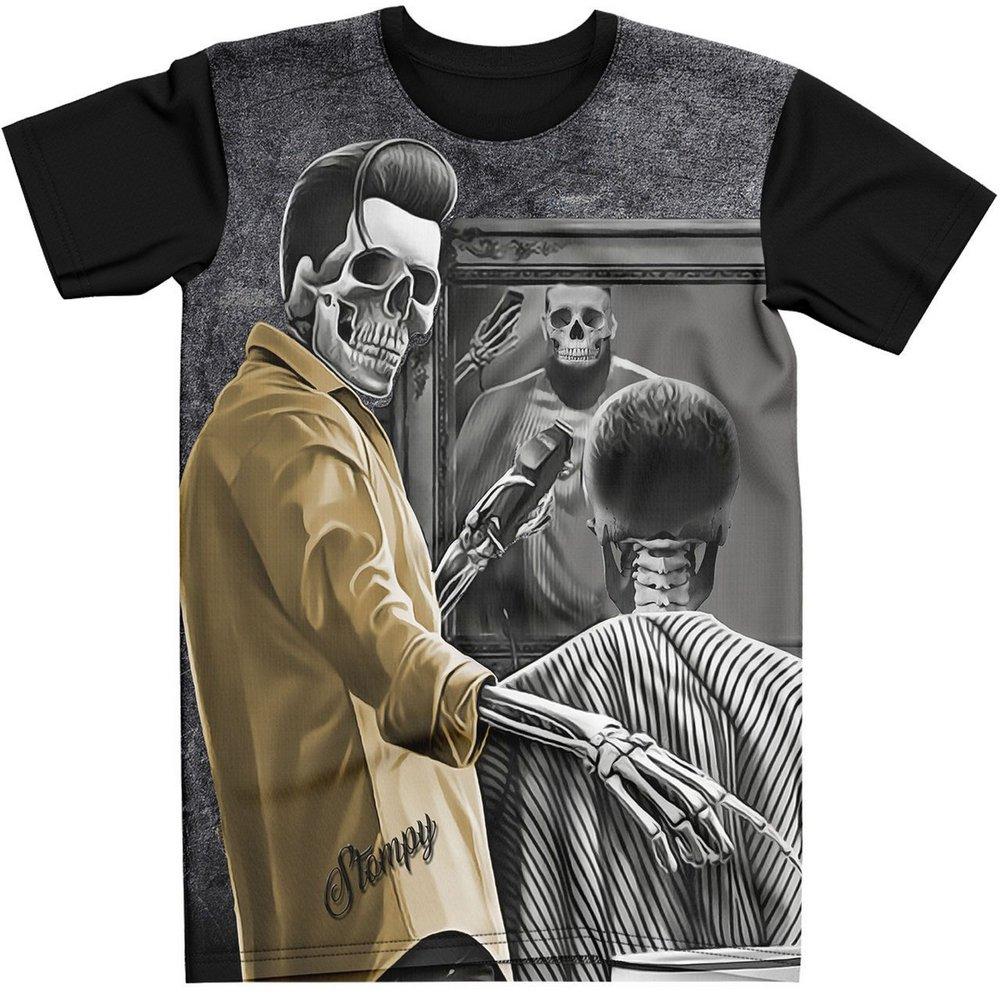 Stompy Camiseta Tattoo Tatuagem Caveira Skull 73