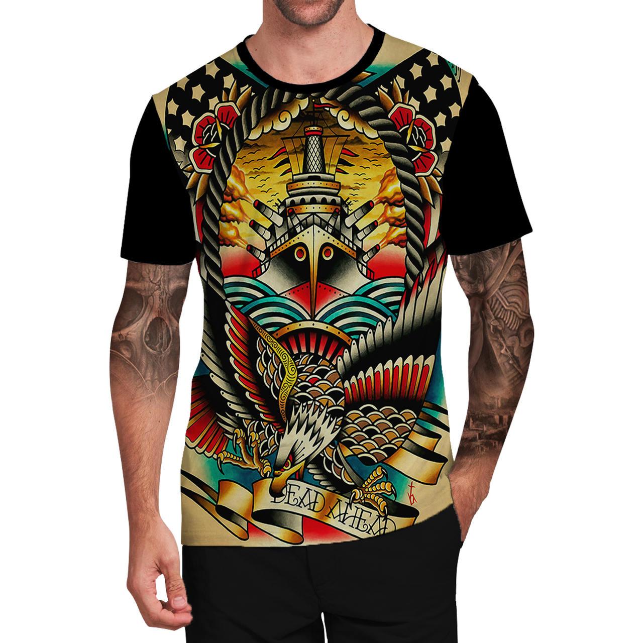 Stompy Camiseta Tattoo Tatuagem Caveira Skull 74