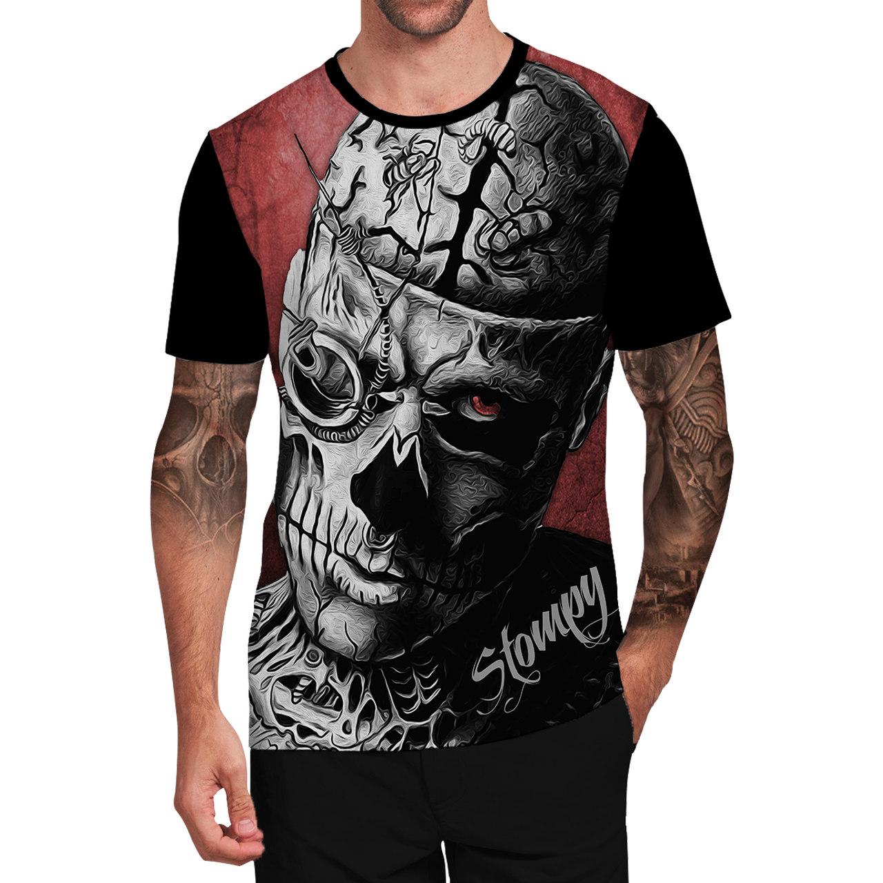 Stompy Camiseta Tattoo Tatuagem Caveira Skull 92