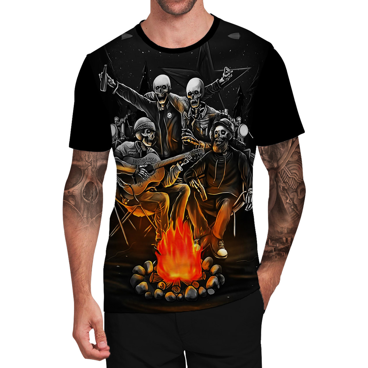 Stompy Camiseta Tattoo Tatuagem Caveira Skull 99