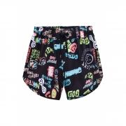 Shorts Johnny Fox Rabiscos E Desenhos