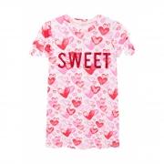 Vestido Infanti Sweet Corações