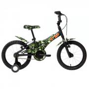 Bicicleta GROOVE aro 16 CAMUFLADA T16 - Preto/Verde